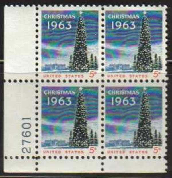 "Scott 1240 Plate Block (5 cents) <p> <a href=""/images/USA-Scott-1240-PB.jpg""><font color=green><b>View the image</a></b></font>"