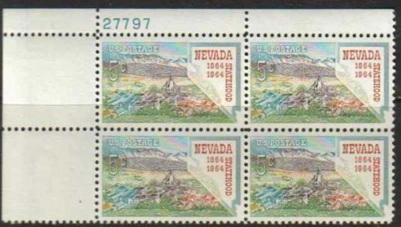 "Scott 1248 Plate Block (5 cents) <p> <a href=""/images/USA-Scott-1248-PB.jpg""><font color=green><b>View the image</a></b></font>"