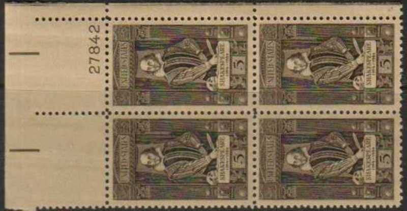 "Scott 1250 Plate Block (5 cents) <p> <a href=""/images/USA-Scott-1250-PB.jpg""><font color=green><b>View the image</a></b></font>"