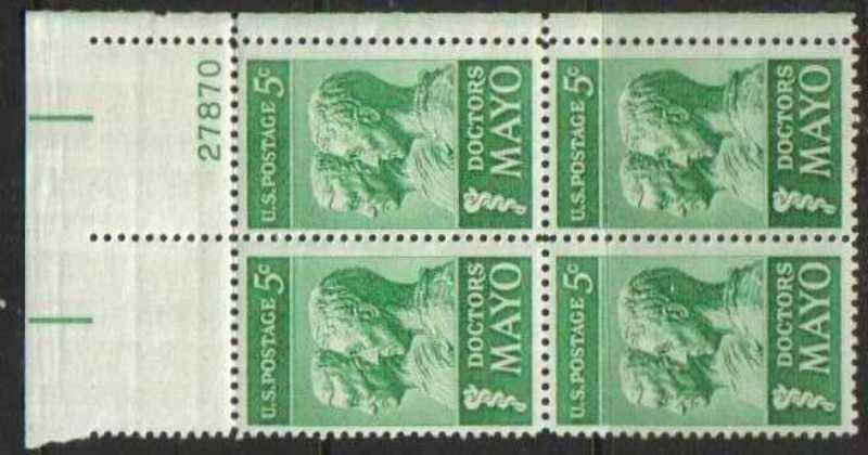 "Scott 1251 Plate Block (5 cents) <p> <a href=""/images/USA-Scott-1251-PB.jpg""><font color=green><b>View the image</a></b></font>"