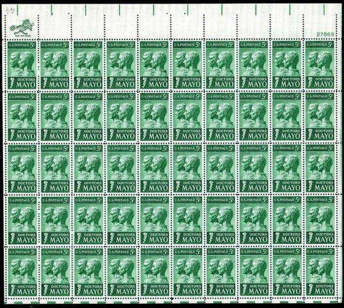 "Scott 1251 Sheet (5 cents) <p> <a href=""/images/USA-Scott-1251-Sheet.jpg""><font color=green><b>View the image</a></b></font>"