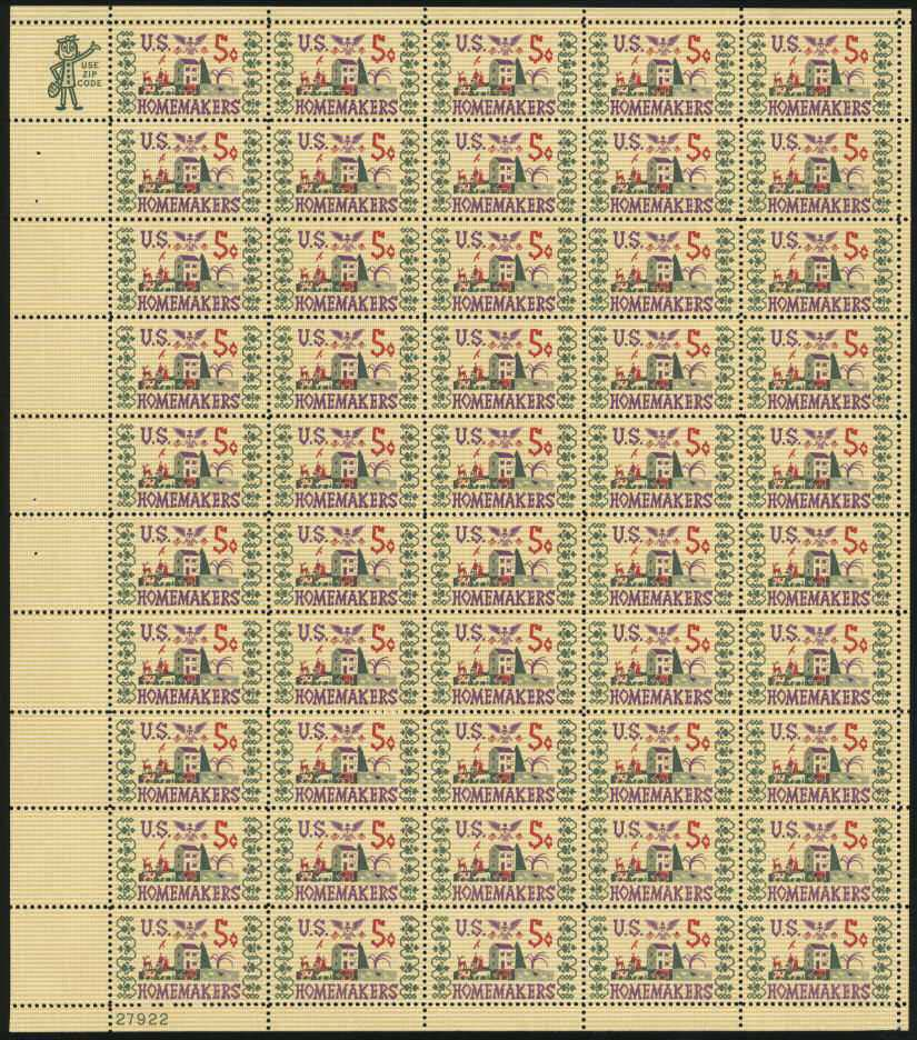 "Scott 1253 Sheet (5 cents) <p> <a href=""/images/USA-Scott-1253-Sheet.jpg""><font color=green><b>View the image</a></b></font>"