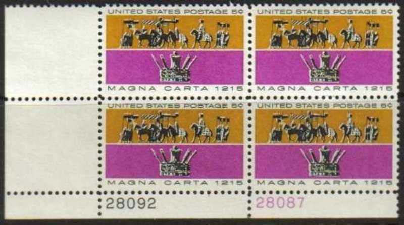 "Scott 1265 Plate Block (5 cents) <p> <a href=""/images/USA-Scott-1265-PB.jpg""><font color=green><b>View the image</a></b></font>"