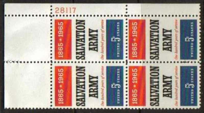 "Scott 1267 Plate Block (5 cents) <p> <a href=""/images/USA-Scott-1267-PB.jpg""><font color=green><b>View the image</a></b></font>"