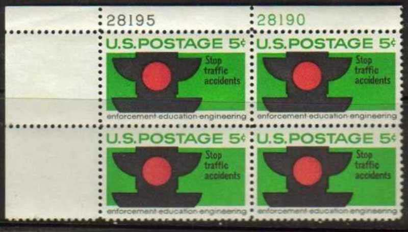 "Scott 1272 Plate Block (5 cents) <p> <a href=""/images/USA-Scott-1272-PB.jpg""><font color=green><b>View the image</a></b></font>"