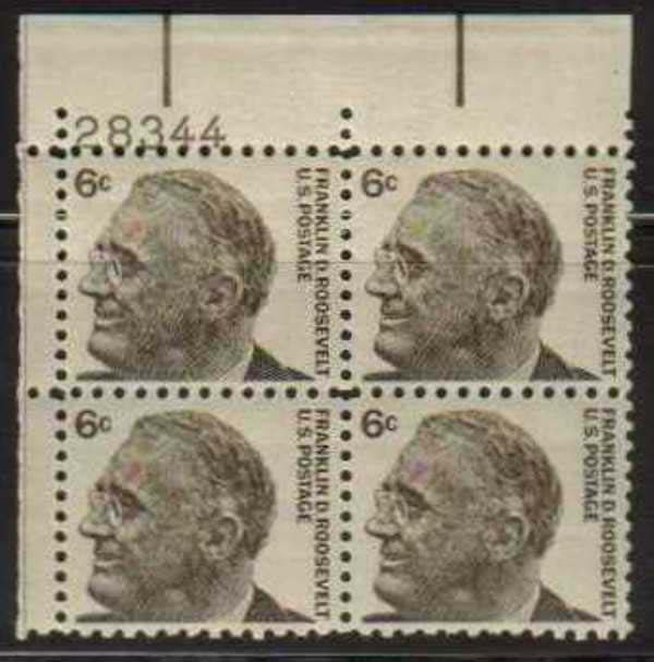 "Scott 1284 Plate Block (6 cents) <p> <a href=""/images/USA-Scott-1284-PB.jpg""><font color=green><b>View the image</a></b></font>"
