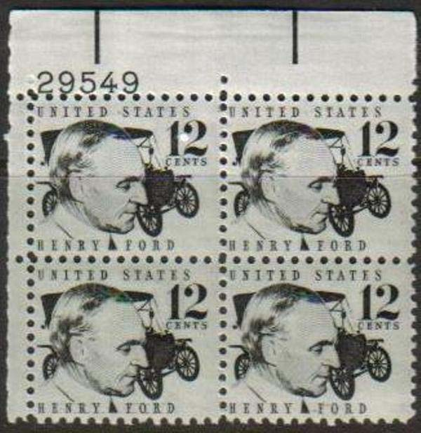"Scott 1286A Plate Block (12 cents) <p> <a href=""/images/USA-Scott-1286A-PB.jpg""><font color=green><b>View the image</a></b></font>"