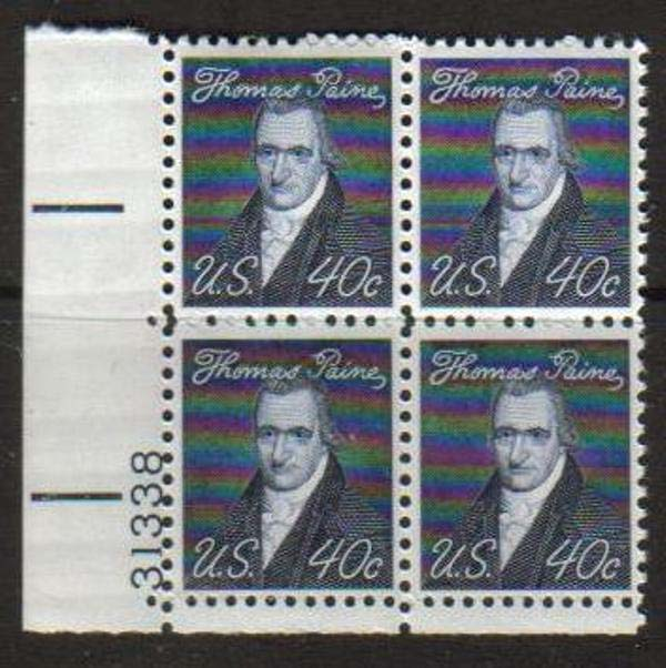 "Scott 1292 Plate Block (40 cents) <p> <a href=""/images/USA-Scott-1292-PB.jpg""><font color=green><b>View the image</a></b></font>"