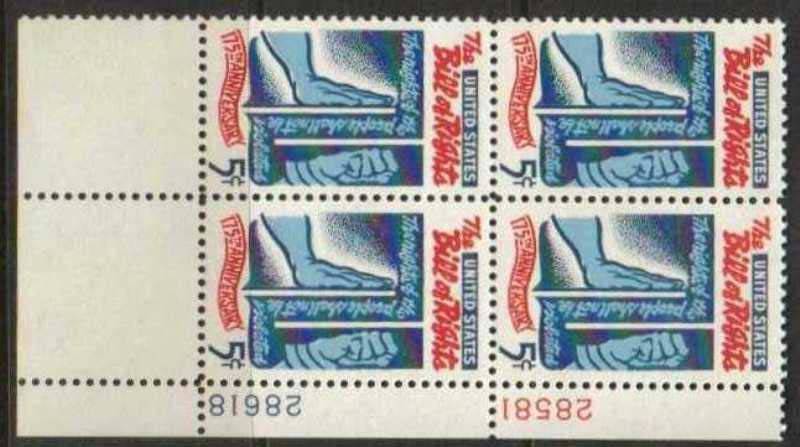 "Scott 1312 Plate Block (5 cents) <p> <a href=""/images/USA-Scott-1312-PB.jpg""><font color=green><b>View the image</a></b></font>"
