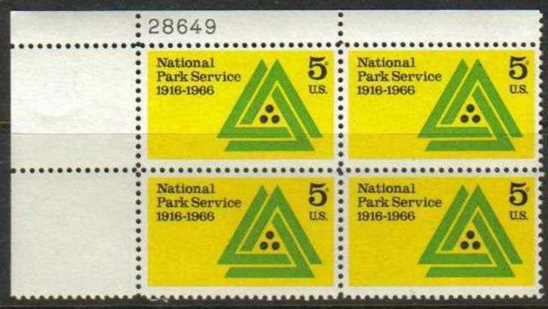 "Scott 1314 Plate Block (5 cents) <p> <a href=""/images/USA-Scott-1314-PB.jpg""><font color=green><b>View the image</a></b></font>"