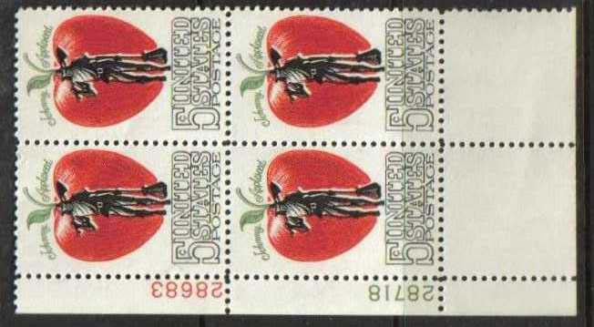 "Scott 1317 Plate Block (5 cents) <p> <a href=""/images/USA-Scott-1317-PB.jpg""><font color=green><b>View the image</a></b></font>"