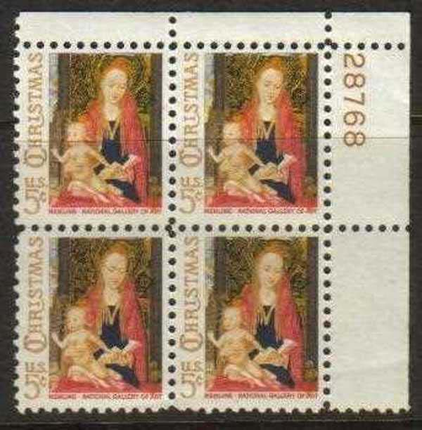 "Scott 1321 Plate Block (5 cents) <p> <a href=""/images/USA-Scott-1321-PB.jpg""><font color=green><b>View the image</a></b></font>"