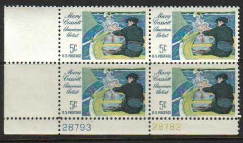"Scott 1322 Plate Block (5 cents) <p> <a href=""/images/USA-Scott-1322-PB.jpg""><font color=green><b>View the image</a></b></font>"