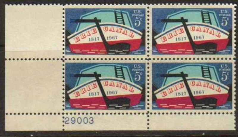 "Scott 1325 Plate Block (5 cents) <p> <a href=""/images/USA-Scott-1325-PB.jpg""><font color=green><b>View the image</a></b></font>"