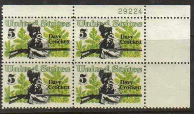 "Scott 1330 Plate Block (5 cents) <p> <a href=""/images/USA-Scott-1330-PB.jpg""><font color=green><b>View the image</a></b></font>"