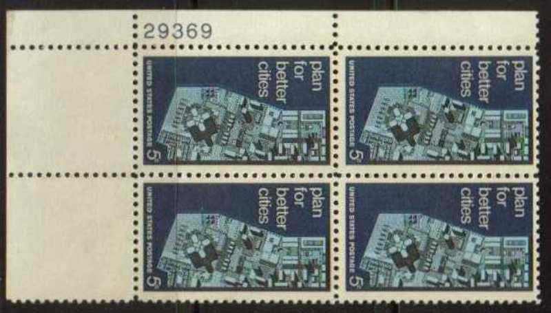 "Scott 1333 Plate Block (5 cents) <p> <a href=""/images/USA-Scott-1333-PB.jpg""><font color=green><b>View the image</a></b></font>"