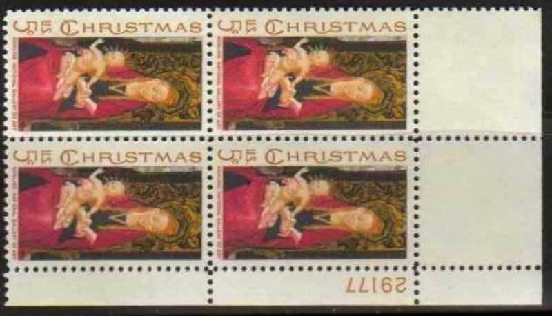 "Scott 1336 Plate Block (5 cents) <p> <a href=""/images/USA-Scott-1336-PB.jpg""><font color=green><b>View the image</a></b></font>"