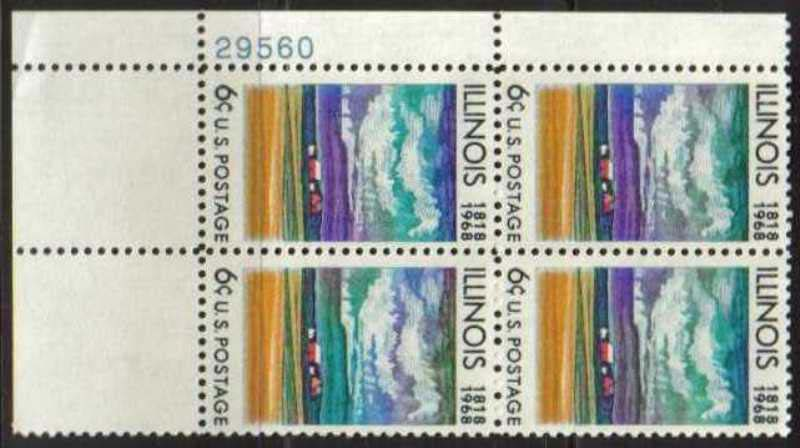 "Scott 1339 Plate Block (6 cents) <p> <a href=""/images/USA-Scott-1339-PB.jpg""><font color=green><b>View the image</a></b></font>"