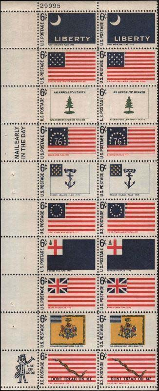 Scott 1345-1354 Plate Block of 20 (6 cents) <p> <a href=&quot;/images/USA-Scott-1345-1354-PB-20.jpg&quot;><font color=green><b>View the image</a></b></font>