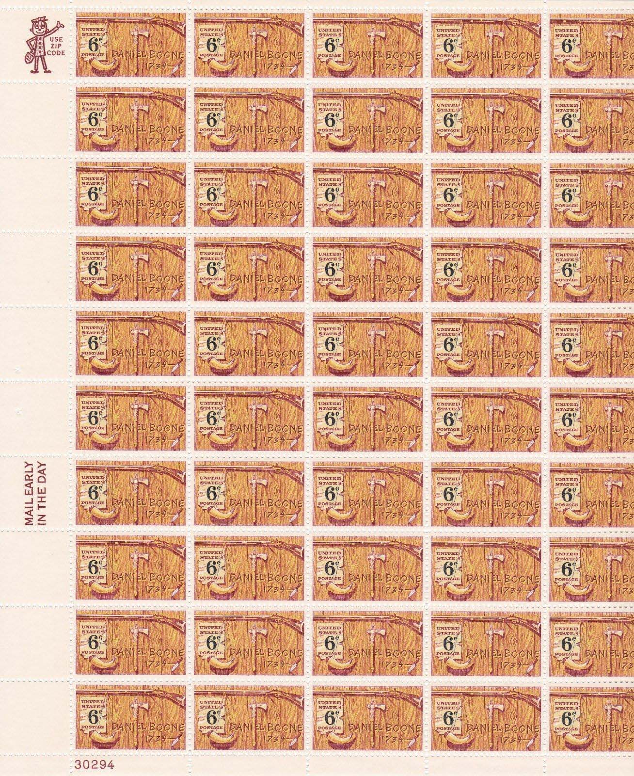 "Scott 1357 Sheet (6 cents) <p> <a href=""/images/USA-Scott-1357-Sheet.jpg""><font color=green><b>View the image</a></b></font>"