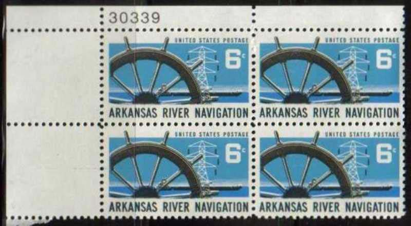 "Scott 1358 Plate Block (6 cents) <p> <a href=""/images/USA-Scott-1358-PB.jpg""><font color=green><b>View the image</a></b></font>"