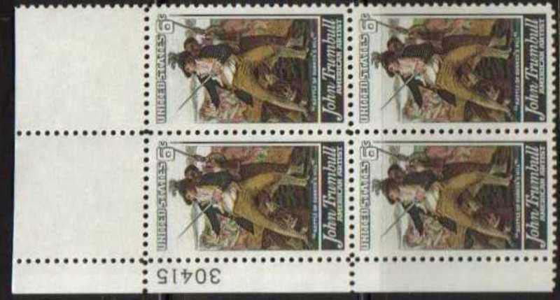"Scott 1361 Plate Block (6 cents) <p> <a href=""/images/USA-Scott-1361-PB.jpg""><font color=green><b>View the image</a></b></font>"