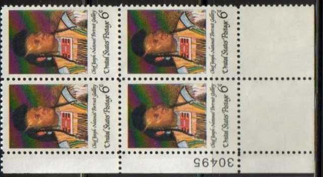 "Scott 1364 Plate Block (6 cents) <p> <a href=""/images/USA-Scott-1364-PB.jpg""><font color=green><b>View the image</a></b></font>"