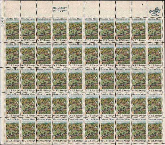 "Scott 1370 Sheet (6 cents) <p> <a href=""/images/USA-Scott-1370-Sheet.jpg""><font color=green><b>View the image</a></b></font>"