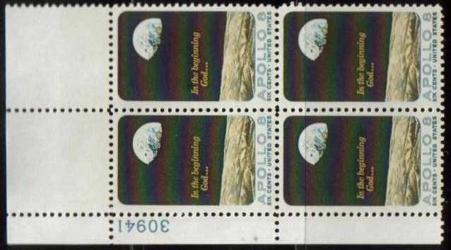 "Scott 1371 Plate Block (6 cents) <p> <a href=""/images/USA-Scott-1371-PB.jpg""><font color=green><b>View the image</a></b></font>"