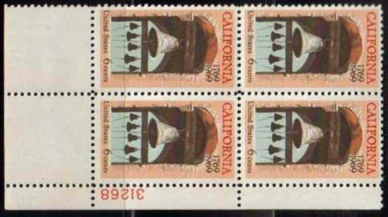 "Scott 1373 Plate Block (6 cents) <p> <a href=""/images/USA-Scott-1373-PB.jpg""><font color=green><b>View the image</a></b></font>"