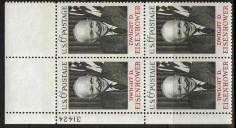 "Scott 1383 Plate Block (6 cents) <p> <a href=""/images/USA-Scott-1383-PB.jpg""><font color=green><b>View the image</a></b></font>"