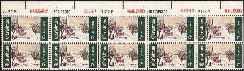 Scott 1384 Plate Block of 10 (6 cents) <p> <a href=&quot;/images/USA-Scott-1384-PB-10.jpg&quot;><font color=green><b>View the image</a></b></font>