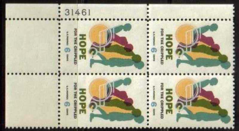 "Scott 1385 Plate Block (6 cents) <p> <a href=""/images/USA-Scott-1385-PB.jpg""><font color=green><b>View the image</a></b></font>"