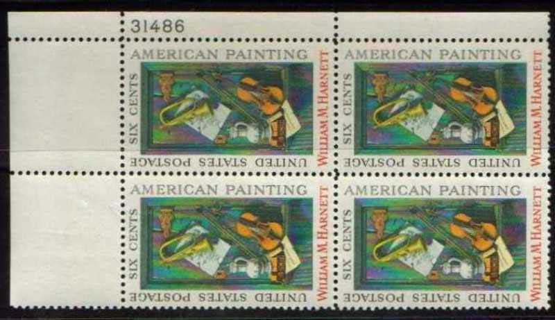 Scott 1386 Plate Block (6 cents) <p> <a href=&quot;/images/USA-Scott-1386-PB.jpg&quot;><font color=green><b>View the image</a></b></font>
