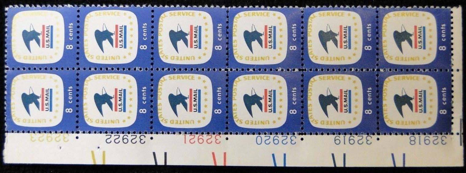 "Scott 1396 Plate Block of 12 (8 cents) <p> <a href=""/images/USA-Scott-1396-PB-12.jpg\""><font color=green><b>View the image</a></b></font>"