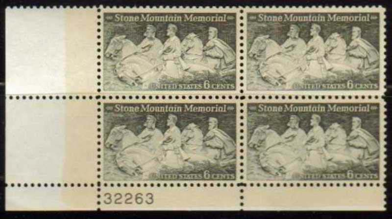 Scott 1408 Plate Block (6 cents) <p> <a href=&quot;/images/USA-Scott-1408-PB.jpg&quot;><font color=green><b>View the image</a></b></font>