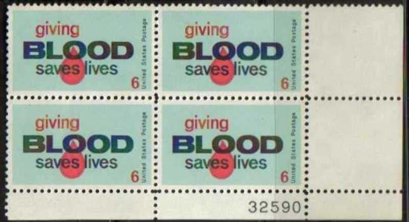 "Scott 1425 Plate Block (6 cents) <p> <a href=""/images/USA-Scott-1425-PB.jpg""><font color=green><b>View the image</a></b></font>"