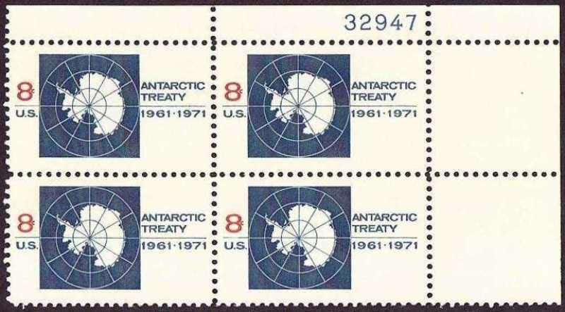 "Scott 1431 Plate Block (8 cents) <p> <a href=""/images/USA-Scott-1431-PB.jpg""><font color=green><b>View the image</a></b></font>"