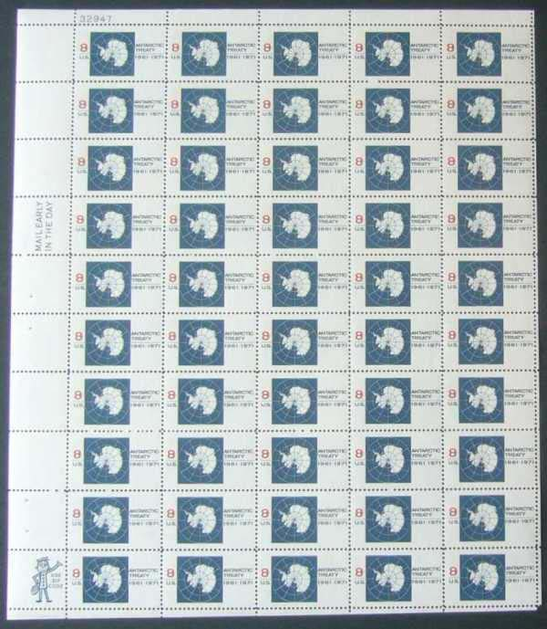 "Scott 1431 Sheet (8 cents) <p> <a href=""/images/USA-Scott-1431-Sheet.jpg""><font color=green><b>View the image</a></b></font>"