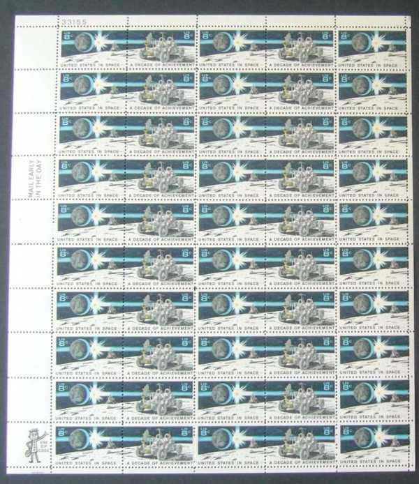 "Scott 1434-1435 Sheet (8 cents) <p> <a href=""/images/USA-Scott-1434-1435-Sheet.jpg""><font color=green><b>View the image</a></b></font>"