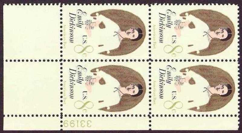"Scott 1436 Plate Block (8 cents) <p> <a href=""/images/USA-Scott-1436-PB.jpg""><font color=green><b>View the image</a></b></font>"