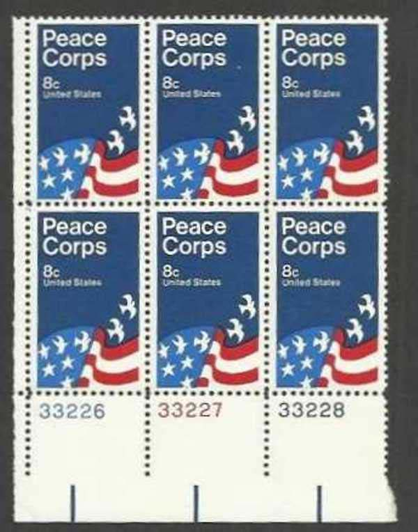 "Scott 1447 Plate Block of 6 (8 cents) <p> <a href=""/images/USA-Scott-1447-PB-6.jpg""><font color=green><b>View the image</a></b></font>"