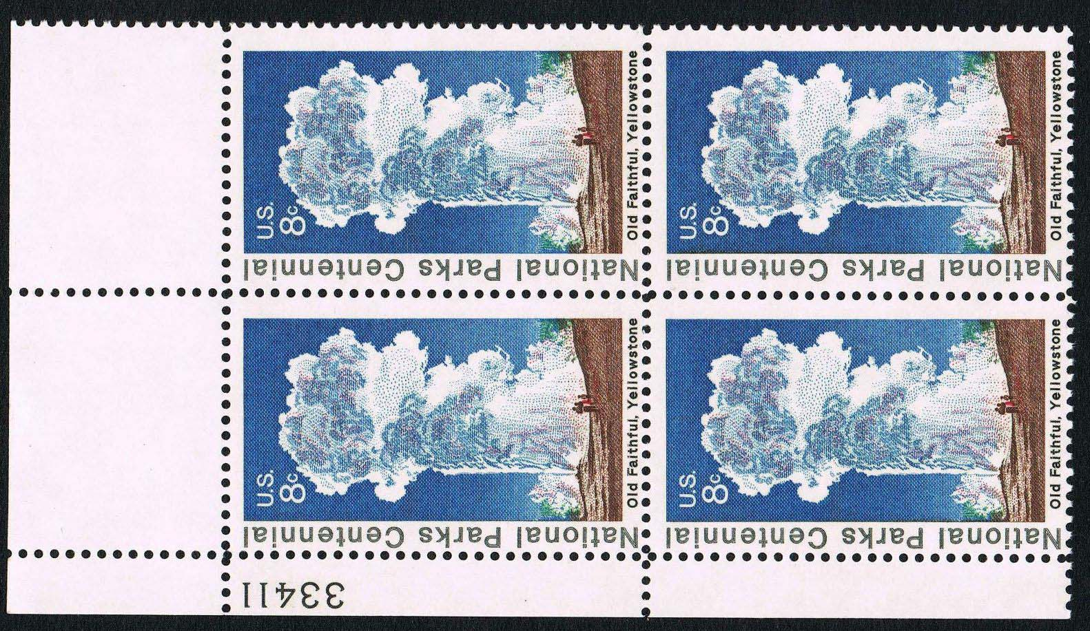 "Scott 1453 Plate Block (8 cents) <p> <a href=""/images/USA-Scott-1453-PB.jpg""><font color=green><b>View the image</a></b></font>"