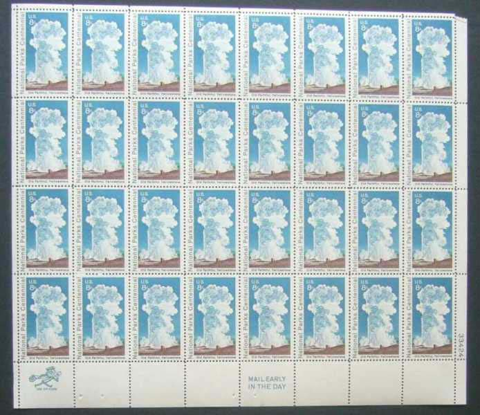 "Scott 1453 Sheet (8 cents) <p> <a href=""/images/USA-Scott-1453-Sheet.jpg""><font color=green><b>View the image</a></b></font>"