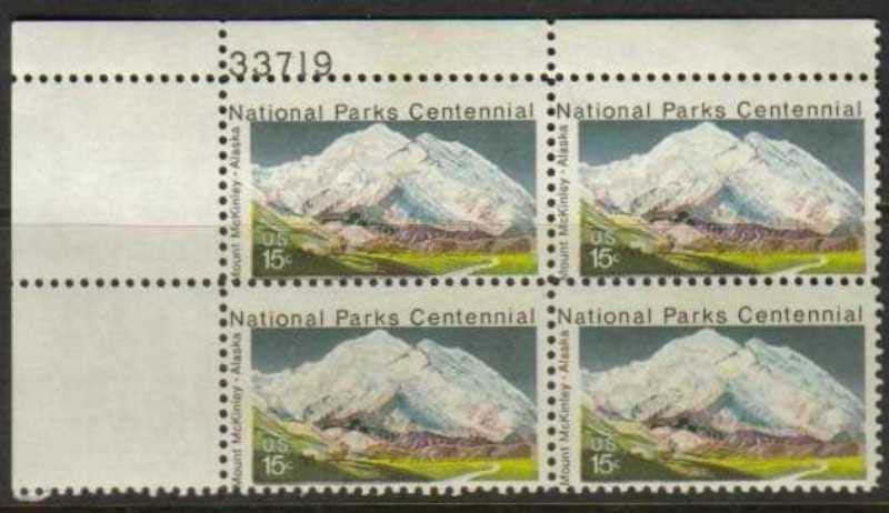 "Scott 1454 Plate Block (15 cents) <p> <a href=""/images/USA-Scott-1454-PB.jpg""><font color=green><b>View the image</a></b></font>"