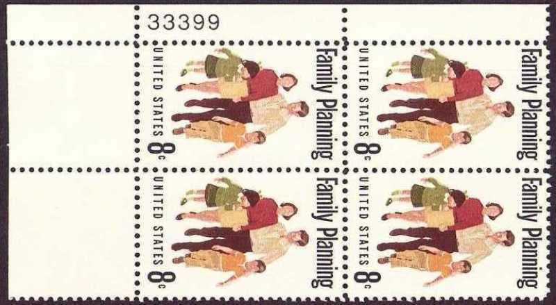 "Scott 1455 Plate Block (8 cents) <p> <a href=""/images/USA-Scott-1455-PB.jpg""><font color=green><b>View the image</a></b></font>"