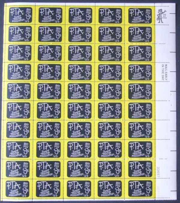 "Scott 1463 Sheet (8 cents) <p> <a href=""/images/USA-Scott-1463-Sheet.jpg""><font color=green><b>View the image</a></b></font>"