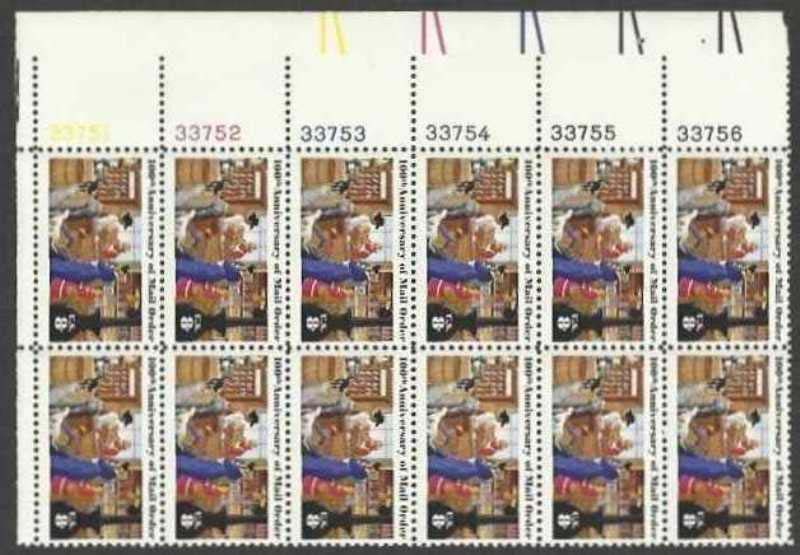 "Scott 1468 Plate Block of 12 (8 cents) <p> <a href=""/images/USA-Scott-1468-PB-12.jpg""><font color=green><b>View the image</a></b></font>"