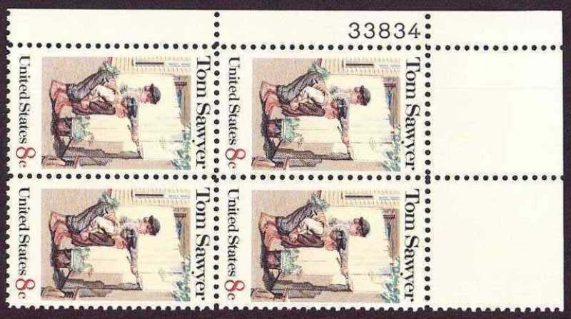 "Scott 1470 Plate Block (8 cents) <p> <a href=""/images/USA-Scott-1470-PB.jpg""><font color=green><b>View the image</a></b></font>"