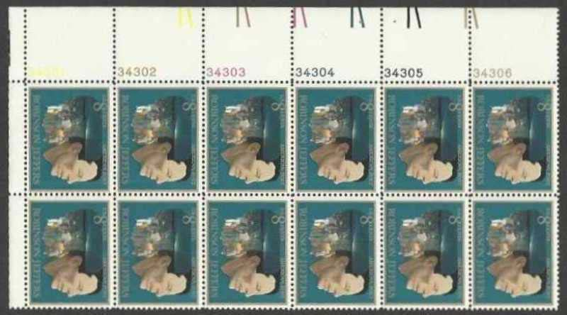 Scott 1485 Plate Block of 12 (8 cents) <p> <a href=&quot;/images/USA-Scott-1485-PB-12.jpg&quot;><font color=green><b>View the image</a></b></font>
